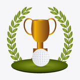 Golfdesign, Vektorillustration lizenzfreie abbildung