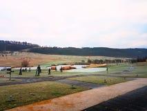 Golfdomstol Royaltyfri Foto