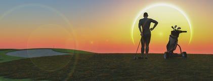 Golfe ilustração royalty free