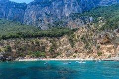 Golfe d'Orosei en Sardaigne, Italie Images libres de droits