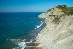 Golfe de Gascogne, falaises Image stock
