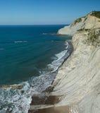 Golfe de Gascogne, falaises photos stock