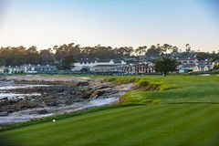 Golfe de Pebble Beach Foto de Stock