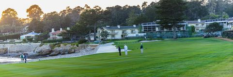 Golfe de Pebble Beach Fotografia de Stock