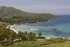 Golfe de St-Florent, helgon-Florent, Korsika, Frankrike Royaltyfri Foto