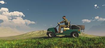 golfe do carrito ilustração royalty free