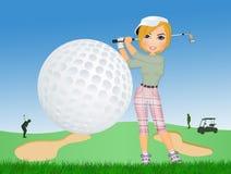 Golfe do jogo da menina ilustração stock