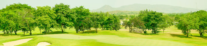 Golfe do panorama Imagem de Stock Royalty Free
