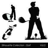 Golfe e jogadores de golfe ilustração royalty free
