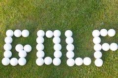 Golfe - feito com bolas de golfe Foto de Stock
