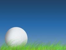 Golfe, grama, fundo, terra, tiro, cena, esfera, esfera de golfe ilustração stock