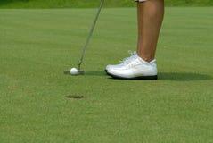 Golfe putt2 imagens de stock