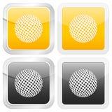 Golfe quadrado do ícone ilustração royalty free
