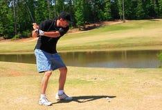 Golfe sênior do fairway Fotos de Stock Royalty Free