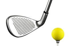 Golfeisenklumpen Stockbild