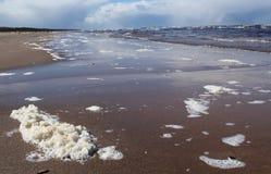 Golfen av Riga fotografering för bildbyråer