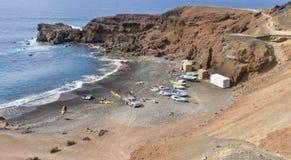 Golfen, Lanzarote ö, Spanien. fotografering för bildbyråer