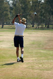 Golfer. The golfer in blow movement stock image