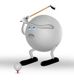 Golfer. Sports concept,3d&computer generated Royalty Free Stock Image