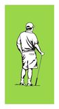 Golfer. Illustration of a golfer watching the ball land Royalty Free Stock Photography