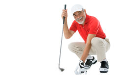 Golfer. Isolated on a white background Royalty Free Stock Image
