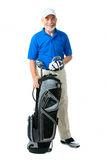 Golfer. Isolated on a white background royalty free stock photography