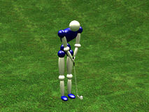 Golfer. 3d Golfer stock illustration