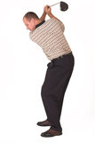 Golfer #4. Golfer on top of backswing Royalty Free Stock Photo
