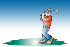 Golfer. Illustration Royalty Free Stock Photography