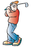 Golfer. Isolated vector illustration