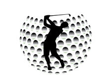 Golfer. This image is a  illustration and can be scaled to any size without loss of resolution. This image will download as an EPS file. You will need a  editor Royalty Free Stock Image