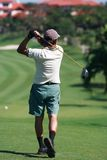 Golfer. In action Stock Photo
