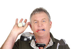 Golfer With Balls Stock Images
