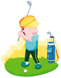 Golfer boy Royalty Free Stock Photos
