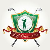 Golfer champ Royalty Free Stock Images
