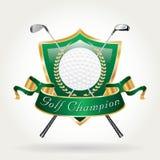Golfer champion green Royalty Free Stock Photo