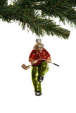 Golfer Christmas Ornament Royalty Free Stock Photos