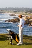 Golfer on the Coast Stock Photos