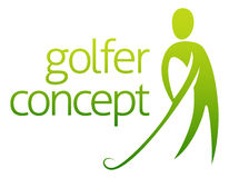 Golfer concept abstract Stock Image