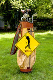 Golfer Crossing Royalty Free Stock Photo