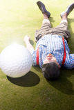 Golfer Didnt See That One Coming Royalty Free Stock Images