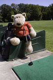 Golfer at driving range Royalty Free Stock Photo