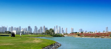 Golfer at Dubai Royalty Free Stock Photos