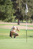 Golfer Gauging Distance Royalty Free Stock Image