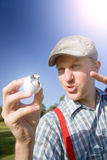 Golfer Gets A Birdie On The Ninth Stock Images