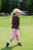 Golfer Girl Royalty Free Stock Images