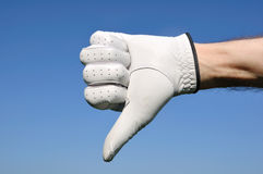 Golfer Giving Thumbs Down Sign Stock Image