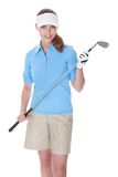 Golfer with a golf club Stock Photography