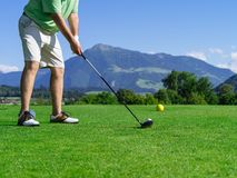 Golfer on the golf course Royalty Free Stock Image