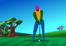 Golfer on golf course Stock Image
